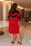 Женское платье креп-дайвинг черное к расным размер: 50-52, 54-56, 58-60, фото 5