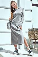 Длинное теплое платье в спортивном стиле 40-52 размеры разные расцветки