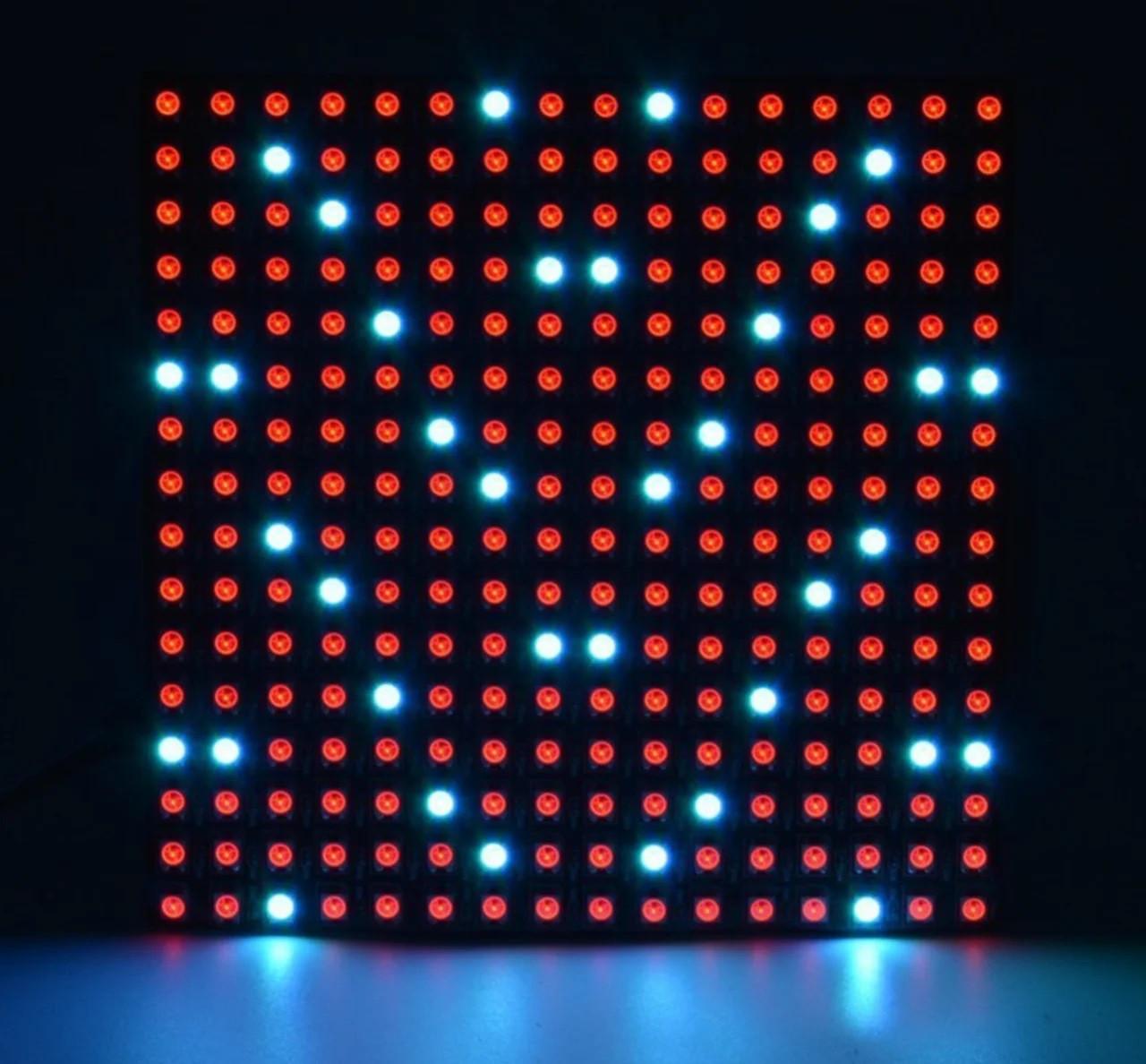 LED гибкая матрица WS2812B на светодиодах 5050, 16х16(256LED), 5В
