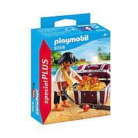 """Игровой набор """"Пират с сундуком сокровищ"""" Playmobil (4008789093585)"""