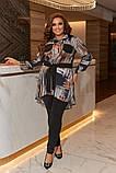 Женский костюм туника и лосины размер батальный: 50-52, 54-56, 58-60, фото 6