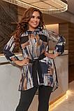 Женский костюм туника и лосины размер батальный: 50-52, 54-56, 58-60, фото 3