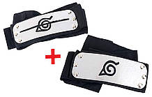 """Набор повязок (налобный протектор) Наруто с символикой """"Скрытый Лист"""" 88 см - Naruto, cosplay"""