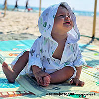 Детская муслиновая туника, принт кактусы