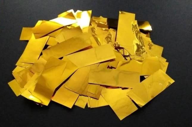 Конфетти метафан золотой, 100 грамм