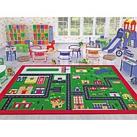 Коврик в детскую комнату Confetti Town 133*190 зеленый