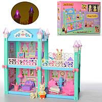 Ігровий будиночок розбірний з меблями та фігурками