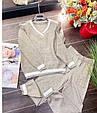 Костюм женский стильный вязаный размер универсальный 42-48 купить оптом со склада 7км Одесса, фото 2