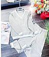 Костюм женский стильный вязаный размер универсальный 42-48 купить оптом со склада 7км Одесса, фото 6