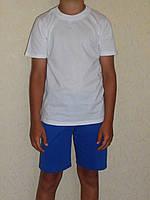 Футболка белая детская хб с коротким рукавом