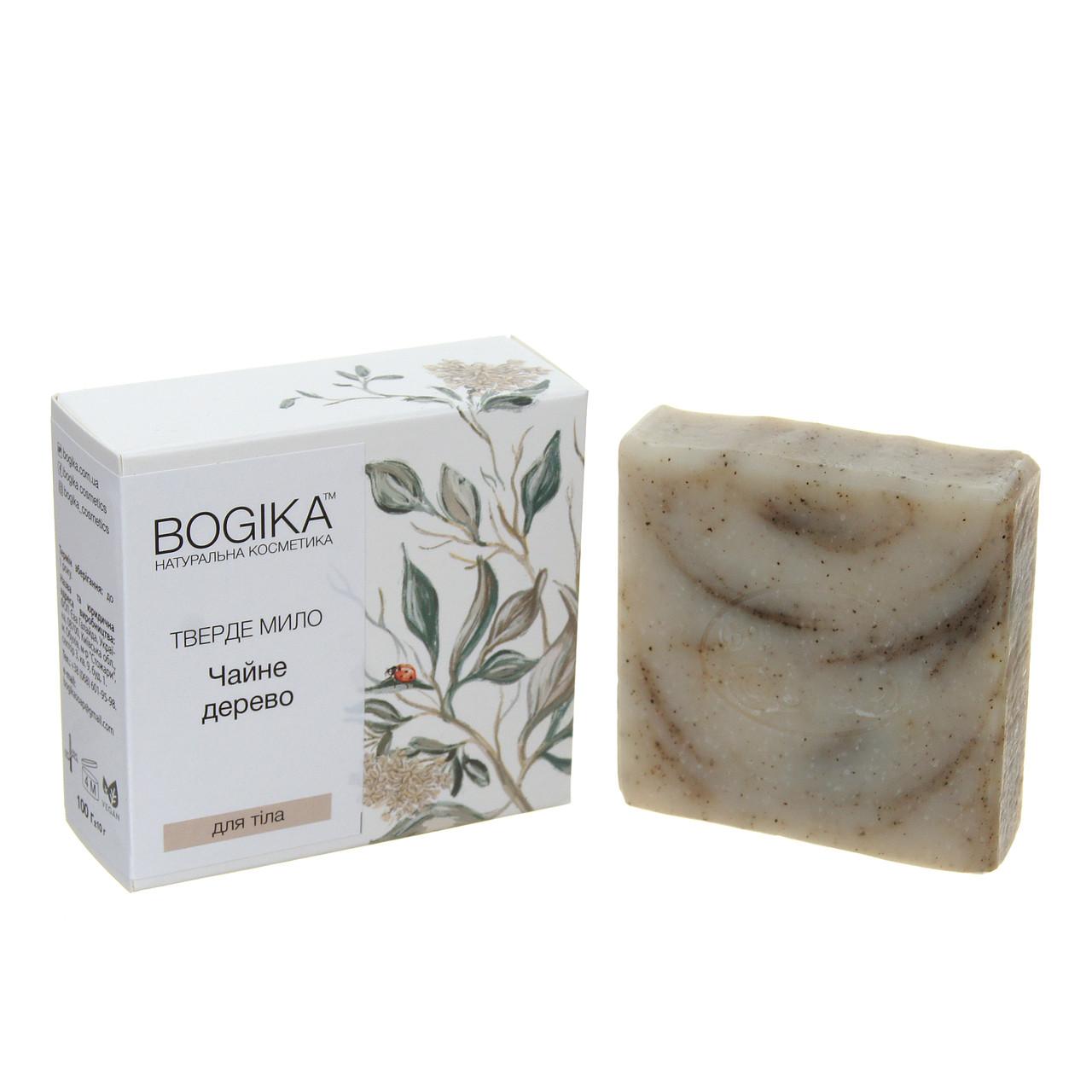 """""""Чайне дерево"""" з ефірною олією чайного дерева, натуральне тверде мило для тіла BOGIKA"""