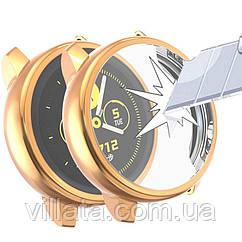 Чехол для Samsung galaxy watch с защитным стеклом  active 2 44mm