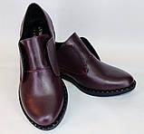 Туфли женские на низком ходу из натуральной кожи от производителя модель ОУ10816-2, фото 2