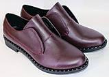 Туфли женские на низком ходу из натуральной кожи от производителя модель ОУ10816-2, фото 3