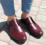 Туфли женские на низком ходу из натуральной кожи от производителя модель ОУ10816-2, фото 6