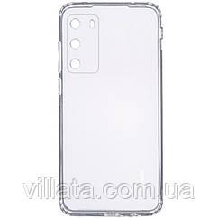 TPU чехол GETMAN Clear 1,0 mm для Huawei P40