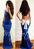 Вечернее платье с бантом и открытой спиной  (три цвета), фото 4