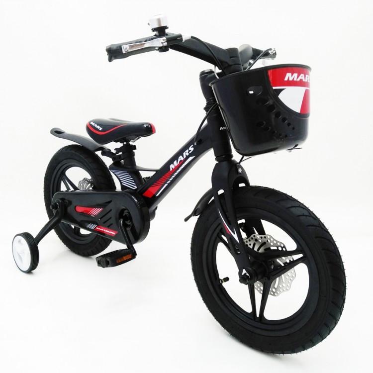 Дитячий двоколісний велосипед MARS-2 Evolution 14 дюймів чорний
