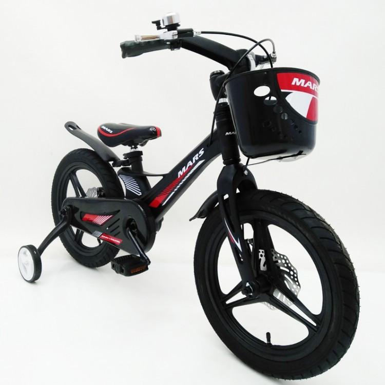 Дитячий двоколісний велосипед 16 дюймів MARS-2 Evolution (від 5 років) чорний