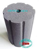 Фильтрующая губка 8х8х12 цилиндр с прорезями №2