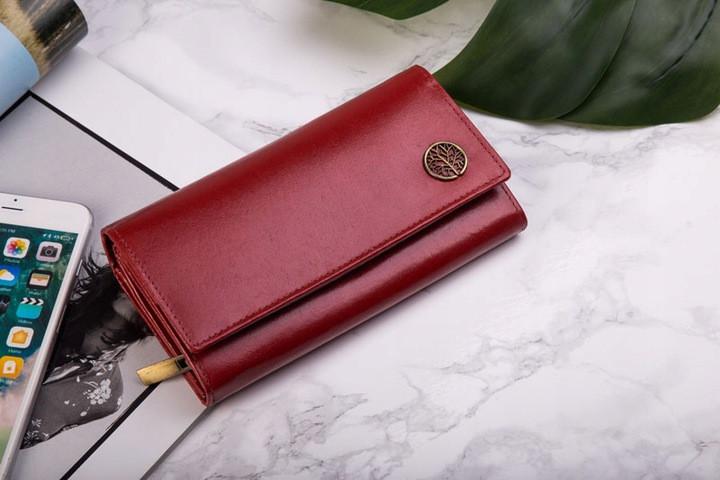 Шкіряний гаманець BETLEWSKI з RFID 17,5 х 9 х 4 (BPD-BF-12) - червоний