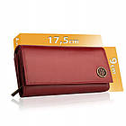 Шкіряний гаманець BETLEWSKI з RFID 17,5 х 9 х 4 (BPD-BF-12) - червоний, фото 4