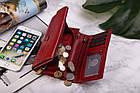 Шкіряний гаманець BETLEWSKI з RFID 17,5 х 9 х 4 (BPD-BF-12) - червоний, фото 7