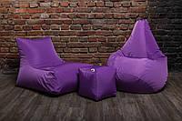 Набор мягкой мебели (Кресло мешок груша пуф)