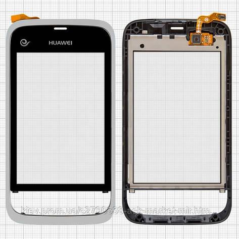 Сенсор для Huawei U8230 Original Silver с рамкой, фото 2