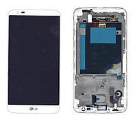 Матрица с тачскрином модуль для LG G2 D801 белый с рамкой