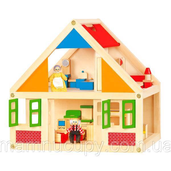 Дерев'яний ігровий набір Viga Toys Ляльковий будиночок (56254)