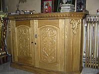 Тумба Алтарная для служебных книг из Ольхи