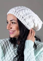 Женская вязанная шапка W-Luxury 7709