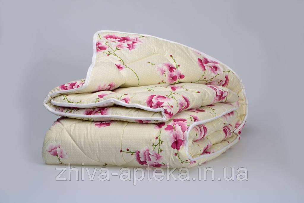 """Одеяло из новозеландской овечьей шерсти """"София"""" розовое (зима) 172*205см"""