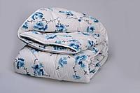 """Одеяло из новозеландской овечьей шерсти """"София"""" голубое (зима) 140*205см"""