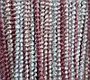 Шторы нити Спиральки Радуга № 145 (белый+фрез+розовый)