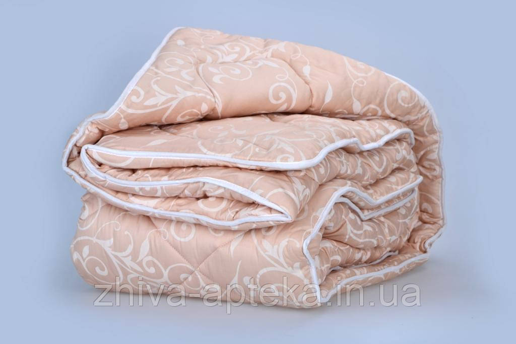 """Одеяло из новозеландской овечьей шерсти """"Сон"""" кремовое (зима) 140*205см"""
