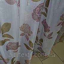 """Тюль печать """"Английская роза"""", фото 3"""