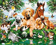 """Картина по номерам """"Дружелюбные животные"""" GX33781"""