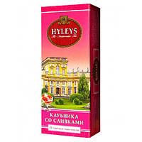 Чай в пакетиках черный Хэйлис Клубника со Сливками  25п.
