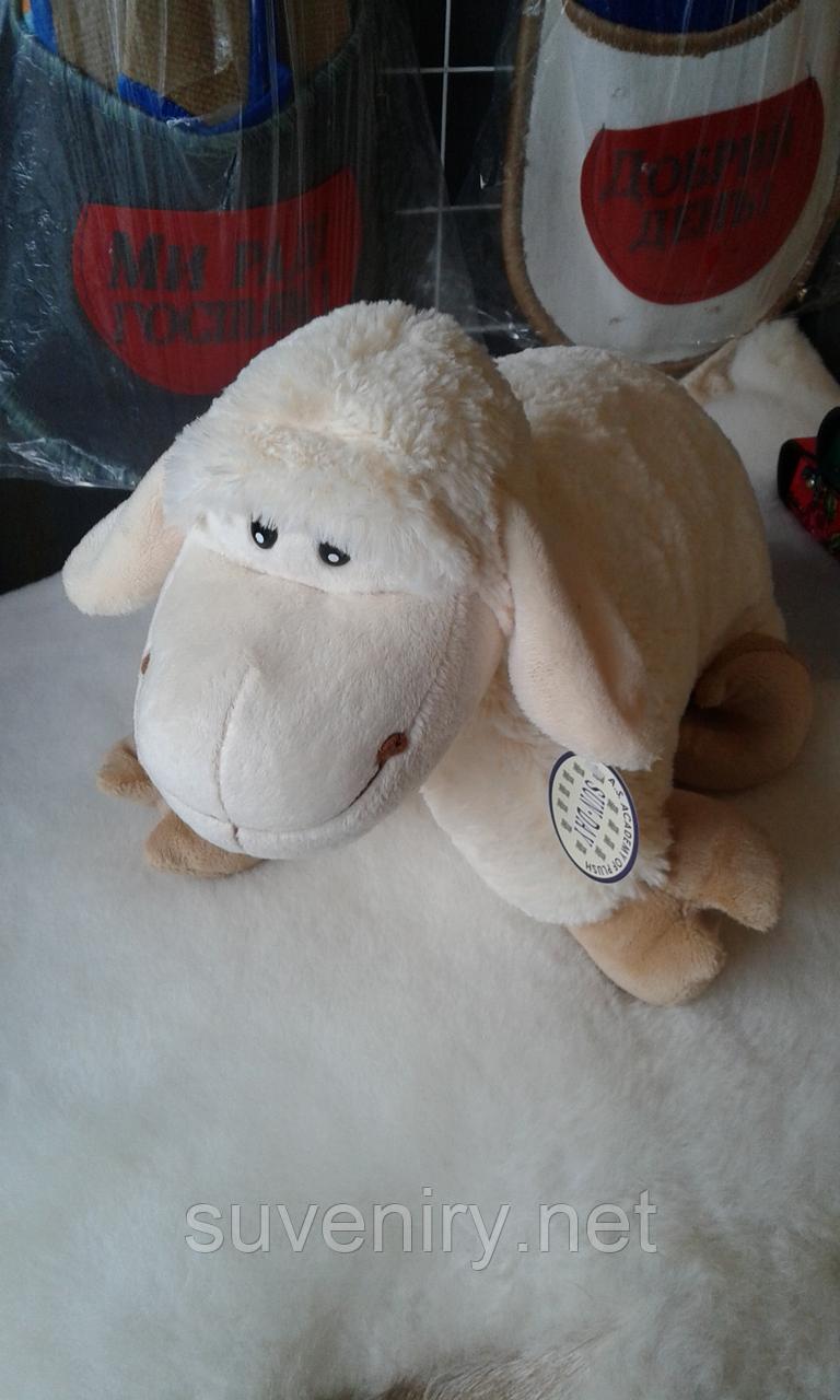 Мягкая игрушка подушка овечка