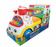Детская Игровая Машинка Каталка Ходунки Оркестр, звуков. эффекты, гудок, 53х26х33 см, оранжевая Fisher Price