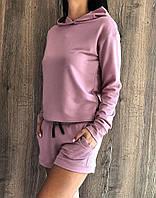 Стильный прогулочный костюм свитшот и шорты.Домашняя одежда женская., фото 1