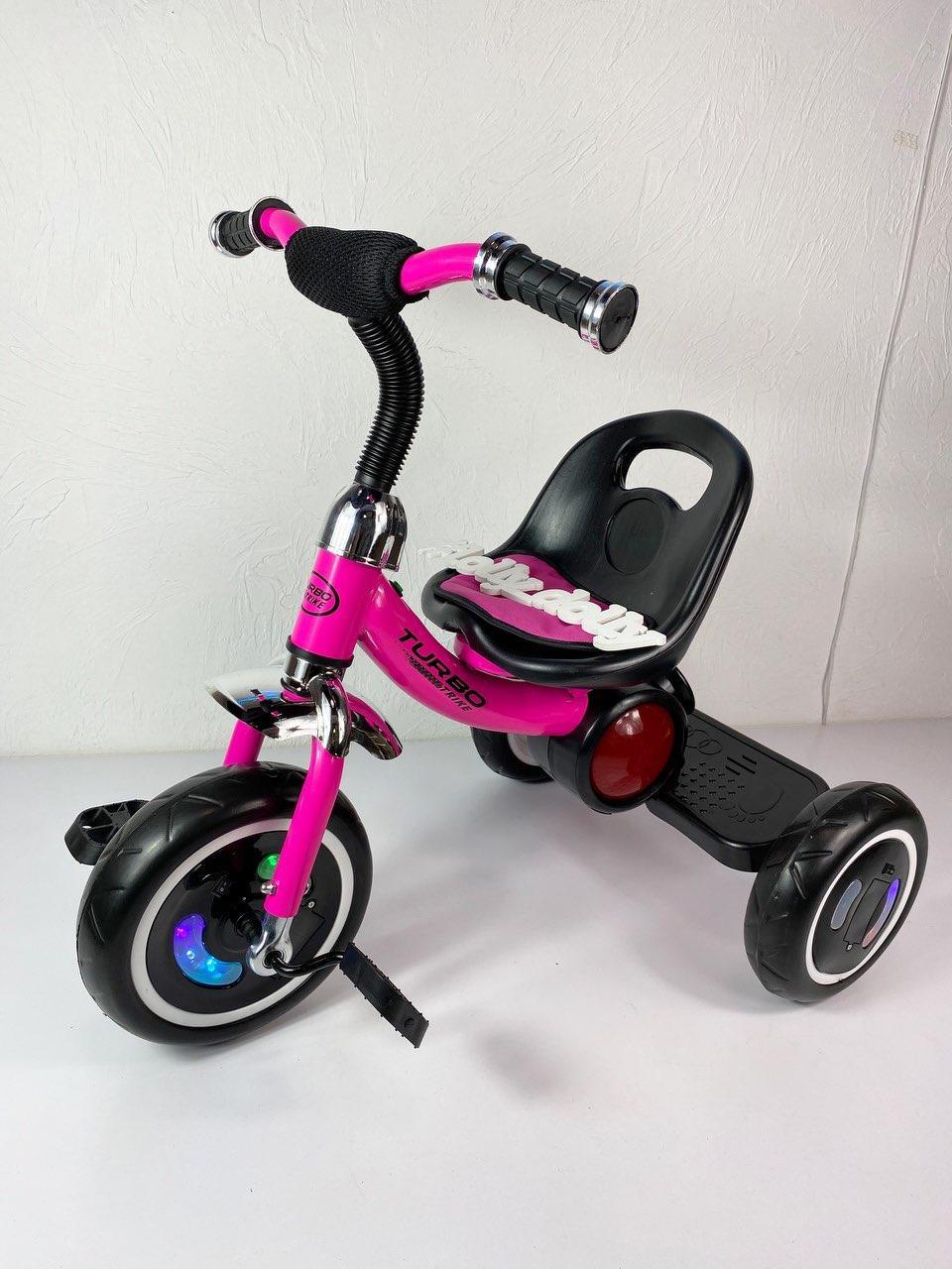 Триколісний велосипед Turbotrike M 3650 з музикою та підсвіткою, малиновий
