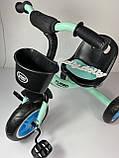 Трехколесный велосипед Turbotrike M 3197, голубой, фото 3