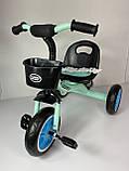 Трехколесный велосипед Turbotrike M 3197, голубой, фото 4