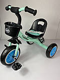 Трехколесный велосипед Turbotrike M 3197, голубой, фото 2