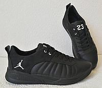Jordan 23 чёрные мужские кроссовки осень весна кожа обувь джордан кросовки спорт, фото 1