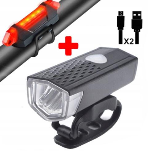 Фонарь велосипедный AQY-0108A-XPE, габарит 5LED, ЗУ micro USB, встроенный аккумулятор