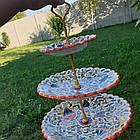 Триярусна фруктовниця/цукерниця Риштан, фото 7